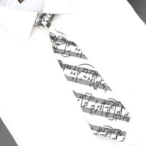 Classic Fashion Kids Skinny Tie Colorful Musical Notes Printed Piano Guitar Polyester 5cm Width Necktie Party Neck Tie Set Ties Gift Accesso