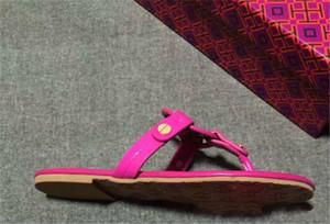 뜨거운 판매 - 전자 가죽 브랜드 새 여성 끈 웨지 샌들 옐로우 여름 여성 비치 샌들 유명한 플립 플롭스