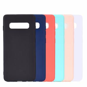 Конфеты Цвет Матовый Силиконовый Мягкий Чехол ТПУ Для Samsung S9 S10 Plus S10e A8S A6S J2 J4 Core A7 A9 J3 Pro J7 J6 J8 J8 J8 J8 Prime C5 C7 C9 C9 C10