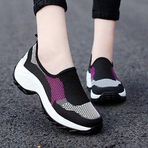 Zapatos de funciones PUAMSS Deportes suave suela zapatos de baile zapatillas de deporte para la práctica de la respiración mujer de talla Modern Dance Jazz 35-42