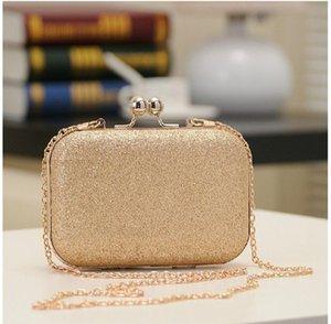 Cadeia Jantar Bola Fashion Designer-Ladies Round Head Mini Sequins Bag Luxo Designer Mulheres Ferrolho Handbag Moda Embreagens Pacote / E