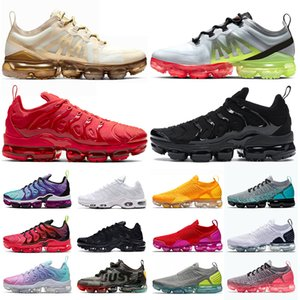 Nike Air max Vapormax TN plus  Almofada Tn Plus Mens Formadores Sunset Triple s Branco Preto Mulheres Outdoor Sports Shoe BETRUE Jogo Royal Metallic Sliver Designer sneakers