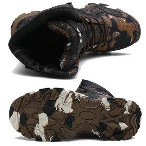 أحذية عسكرية الرجال المشي لمسافات طويلة أحذية القتال في الهواء الطلق الرجال الصحراء التمويه التكتيكية الحذاء عدم الانزلاق ماء الرجل الصيد الأحذية