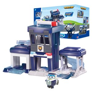 AULDEY Super Wings Paul Police Station Donnie Build-it Buddies Transforming Vehicles Playset Unisex Educational Toys Christmas Kids Gifts 09