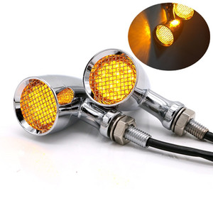 Бесплатная доставка 12V мотоцикла Turn Light Vintge Заверните LED сигнальная лампа LED Модификация Direction огни Conner Лампы