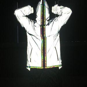 Cloak Hop Hip 2021 New Clothing Coats Men Windbreaker Free Zipper Long Coat Trench Jackets Mens Shipping Reflective Night Flash Hooded Hxll