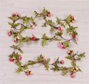 Sonbahar Manzara Yıldız Little Rose İpek Çiçek Yapay 42 Trompet bracts Güneş Gölgelendirme Çelenkler Ivy Bitkiler Düğün Kutlama 6cqE1
