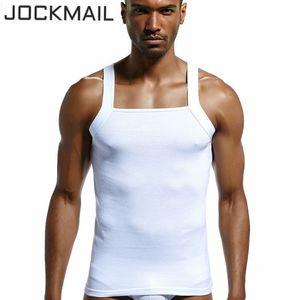 Marque JOCKMAIL vêtements d'été en haut coton hommes de réservoir étanche solide bodybuiding doux respirant Gilet coupe Undershirt VeLow musculaire
