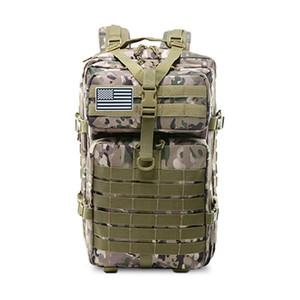 50L de gran capacidad táctica militar Army Men Mochila 3P de tapa blanda al aire libre de errores impermeable Mochila que va de excursión de caza Bolsas