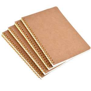 New hot sale A5 kraft paper cover notebook dot matrix grid coil school office business diary notebook office supplies