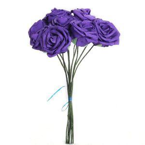 10Pcs lot 7cm Purple Artificial Flowers for Wedding Decorations Fake Rose Flower Bouquet Home Party Decor Other Festive Party Supplies