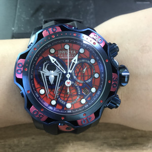 Invicta Venom Model 27043 52.5mm Stainless Steel Reserve Limited Edition Marvel Spiderman Captain America Men Quartz Watch