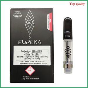 Forma de diamante Embalaje vacío Eureka cartuchos Bobina de cerámica 0.8 ml Sin fugas Atomizador dank vapes carros vape pluma luna roca