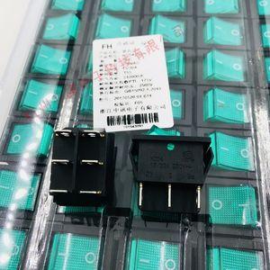Перекидной переключатель KCD4-202N зеленый с светло-красным со светом 6 футов два файла 15 / 30A 250VAC