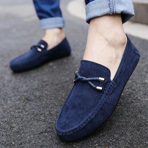 Upper Frühling Sommer Männer Männer Komfortable neue Müßiggänger Casual Weiche atmungsaktive Leder Slip-on Schuhe Flache Fahrschuhe Mokassins GAPJW