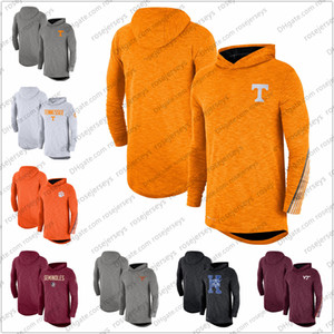 NCAA Men Tennessee Volunteers 2019 Blanc Sideline manches longues à capuche Performance Top Heather Gris Orange Rouge Taille S-3XL