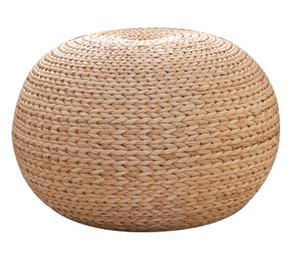 Fabriqué à la main Rustique Rond Straw Ball Stool Floor Seat Pouf Ottoman Home Decor Pays Cadeau Salon Meubles À La Main