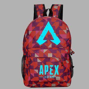19 Style Apex legends backpack Glowing Dark Respawn day pack New hero school bag Game packsack Luminous Storage Sport Outdoor bags W190304