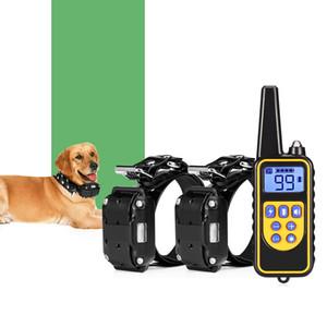 880 800m prova d'água recarregável Remoto Dog Collar Controle de Treinamento elétrica