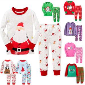 Pijama de los niños de Navidad de Navidad de Santa Claus Payamas bebé de algodón Pelele de dibujos animados de manga larga ropa de noche Aire Acondicionado Noche DYP6404 Traje