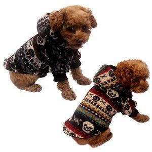 Dog Pet Automne double couche d'hiver vêtements chauds manteau à capuchon 2 Épaississement chaud Legged et lavable à capuchon respirante durable Q1