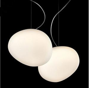 Nordic Globo luces pendientes de cristal blanca de la lámpara pendiente de la bola Lustre Suspensión Luz Cocina accesorio de iluminación lamparas colgantes