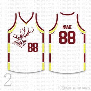 Лучшие Пользовательские Баскетбол Трикотажные мужские Вышивка логотипов Джерси Бесплатная доставка Дешевые оптовая любое имя любое число Размер S-XXL vbstg