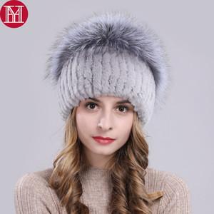 2019 Kadınlar Sıcak Orijinal Rex Kürk Şapka Doğal Rex Kürk En Mantar Şekli Caps Kış Gerçek kasketleri Şapka