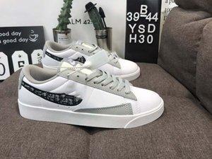 Nike Dior alta calidad de los zapatos de lona bajos de la vendimia BLAZER Hombres Mujeres 77 Negro Blanco Baja zapatillas de deporte Tamaño 36-44