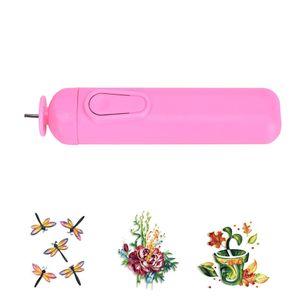 Multi Function Pen couleur aléatoire bricolage électrique Sloed papier Artisanat Papier Outils Quilling Winder Curling en acier Pen Accessoires Craft