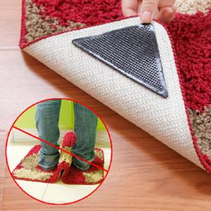 Teppich Teppich 4 Stück / Set Mat Greifer Non Slip Anti-Skid Wiederverwendbare Waschbar Grip Für Privatanwender Bad Wohnzimmer Teppich Zubehör