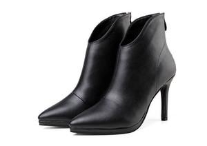 الساخنة تنقش بيع-التمساح-الكعوب النساء أحذية الكاحل سيدة مضخات خريف شتاء الموضة للدراجات النارية مارتن أحذية 10CM