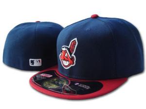 5 colores Hombres Cleveland Armarios plana gorras Brimfield bordado aficionados de los Indios de béisbol sombreros completo la tapa cerrada