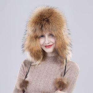 2019 Venta caliente Winter Lady Real Fox Fur Hat 100% Natural Soft Genuine Fox Fur Cap New Women Fashion Casual Warm Real Leather Caps