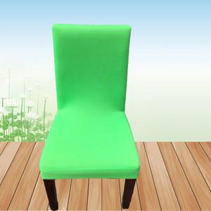 4 / 6pcs chaise couverture impression solide flexible élastique anti-sale mariage banquet partie décoration de la maison