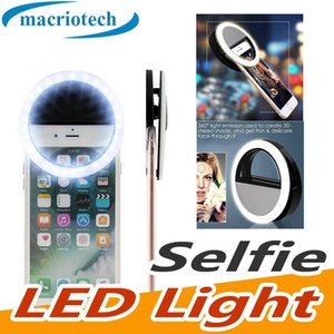 For Iphone X Rechargeable Universal Luxury Smart Phone LED Flash Light Up Selfie Luminous Phone Ring For iPhone Android With USB Charging