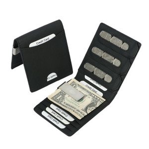 Men Women ID Credit RFID Protector Money Clip Wallet Cards Case