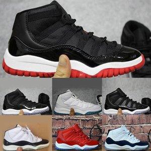 Nike air jordan 11 basketball kids running shoes 2020 zapatillas de deporte de los niños muchacho muchacha niño 11s Blanco Rosa gris del ante niños pequeños