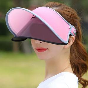 Nuovo parasole estivo Vvc protezione solare cappuccio Sunhat outdoor donna da viaggio Face Shade e protezione per la protezione ultravioletta della dea