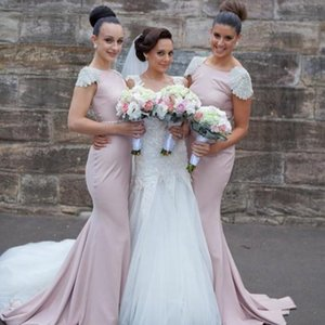 Luxury Wedding Wed Bridesmaid Dress Crew High Neck Cutout Formal Events Bridesmaid Gowns Floor Length Cheap Beach Long Bridesmaids Dresses