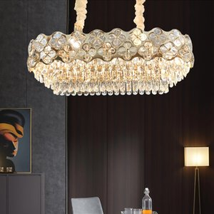 Crystal chandelier lighting for villa living room bedroom dining room new luxury designer led pendant lights contemporary hanging lamps