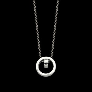 Designer factory price direct selling g letter size inner double ring necklace, sub gold version couple double ring necklace