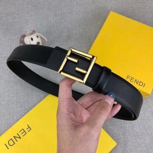 Haute qualité ceinture boutique hommes et femmes ceinture or boucle boucle lisse ceinture noire ceintures corps largeur 3.4cm bonne qualité en gros