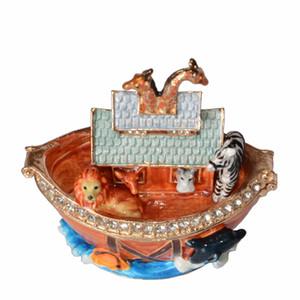 Nuh'un Gemisi Hazine Biblo Mücevher Kutusu Dekoratif Keepsake Süs Koleksiyon Yaratıcı Hediyeler