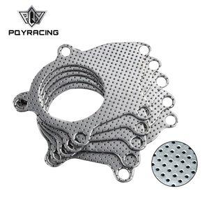 PQY-T3-T4 5-болт Серии B/D турбо коллектор выхлопной трубы графит алюминиевая прокладка PQY4953