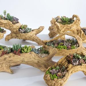 imitation bois Apple Garden pot de fleur multi-viande usine de viande créative fleur pot T200104