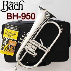 Latón Vicente Bach Stradivarius fliscorno profesional BH-950 plateado con el caso Profesión Fliscornos Bb Campana Amarilla