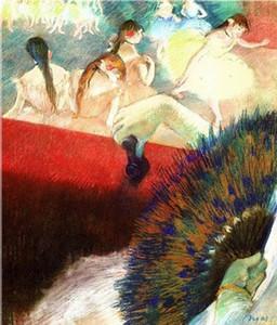 Edgar Degas Bilder - Im Teatro Home Decor Artesanato / HD impressão da pintura a óleo sobre tela Wall Art Imagem 200107