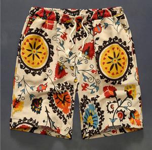 Männer Badeshorts aus reiner Baumwolle Flachs Badeshorts für Männer Strand Shorts SPA Badeanzug Strandhose Board Short Surf Pants Bademode