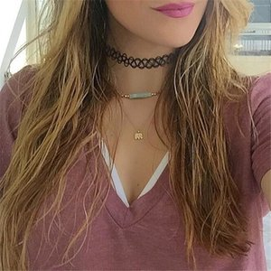 Dogeared Necklaces With card Gold Elephant Heart Key Clover Horseshoe Triangle Charm Pendant Necklace For women Fashion Jewelry Gift BFJ741